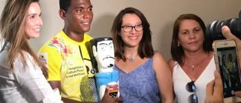 Tainá Veiga recebe primeira-dama Renata Calheiros e apresenta valores da arte e cultura local