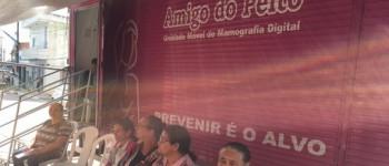 """Parceria com a unidade móvel """"Amigo do Peito"""" garante mais de 300 mamografias em Lagoa da Canoa"""