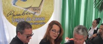 Lagoa da Canoa comemora 57 anos de emancipação e população ganha importantes obras