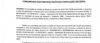 Comunicado aos Partidos Políticos e População em Geral