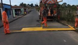Vias centrais de Lagoa da Canoa recebem sinalização